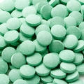 Green Pucker Pieces Candy Tablets - Green Apple