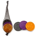 Halloween Chocolate Coins Mesh Bags - 24 Ct Case