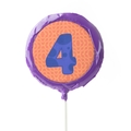 '4' Number Hard Candy Lollipop