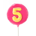 '5' Number Hard Candy Lollipop