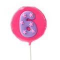 '6' Number Hard Candy Lollipop