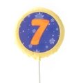 '7' Number Hard Candy Lollipop