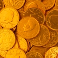 Orange Chocolate Coins - 1 LB Bag