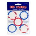 Patriotic Stickers Labels 25ct