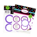 Purple Favor Sticker Labels 20ct