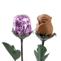 Sweet Heart Milk Chocolate Foiled Roses - Lavender - 48CT