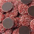 Red & White Dark Chocolate Nonpareils