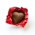 Red Foiled Milk Chocolate Hearts