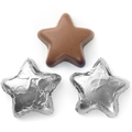 Foiled Chocolate Stars - Silver