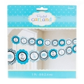 Blue Safari Printed Baby Shower Garland - 8ft