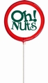 Red Oh! Nuts Lollipop - Cherry