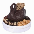 Dark Chocolate Swan Gift Basket