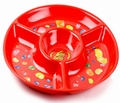Jelly Belly Red Melamine Chip & Dip Tray
