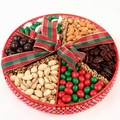 Old Large Holiday Beaded Gift Tray