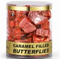 Caramel Filled Milk Chocolate Butterflies - 35CT Tub