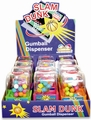 Slam Dunk Basketball Gumball Dispensers - 12CT Box