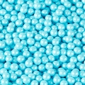 Powder Blue Shimmer Pearl Candy Beads
