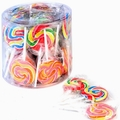 Handmade Swirl Round Lollipops - 40CT Tub