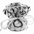 Black & White Organza Bags - 12CT Bag