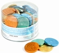 Nut-Free Multicolor Milk Chocolate Coins - 70CT Tub