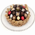 Passover Beaded Glass Chocolate Tray