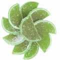 Lime Jelly Fruit Slices - 5 LB Box