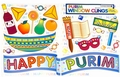 Happy Purim Window Clings