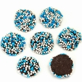 Blue & White Chocolate Nonpareils