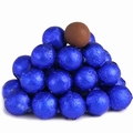 Royal Blue Foiled Milk Chocolate Balls