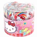 Hello Kitty Handmade Swirl Round Lollipops - 40CT Tub