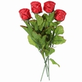 Red Milk Chocolate Long Stem Roses - 6-Pack