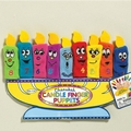 Chanukah Candle Finger Puppets - Set of 9
