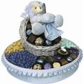Round Baby Boy Gift Basket