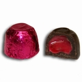 Passover Raspberry Foiled Chocolate Truffles - 18 Pc.