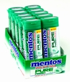 Mentos Pure Fresh Spearmint Gum - 10CT Box