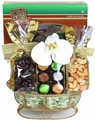 Passover Gold Wired Gift Basket