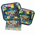 Purim Paperware Square Serving Set