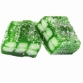 Green Sour Licorice Gummy Cubes
