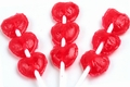 Triple Heart Red Lollipops