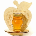 Large Wooden Apple Honey Gift