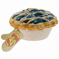 Ceramic Blueberry Pie-Shaped Candy Dish with Blueberry Jelly Beans