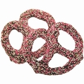 Chocolate Covered Pretzels with Pink Nonpareils - 10CT Box