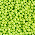 Lime Green Shimmer Pearl Candy Beads