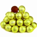 Yellow Foiled Milk Chocolate Balls