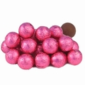 Hot Pink Foiled Milk Chocolate Balls