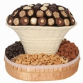 Oval Chocolate & Nut Gift Basket
