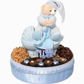 Round Tray Baby Boy Ceramic Carriage