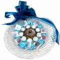Israeli Hanukkah Chocolate Glass Charger