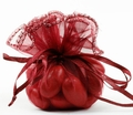 Burgundy Organza Bags - 12CT Bag
