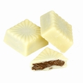 White Square Praline Chocolate Truffles - 5 LB Box